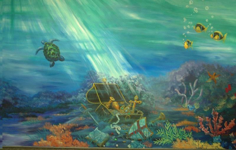 Пейзаж на дне моря в картинках